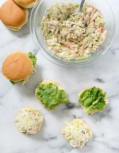 3 Salad-Inspired Alternatives to Summer Burgers: Chicken Caesar Sliders   #theeverygirl