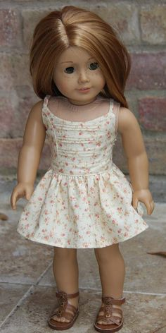 Floral Strap Dress with Front Pin Tucks Pink by MaddiesGirls