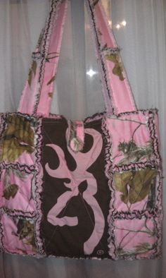 Quilted Rag Bag pink realtree/browning rag purse www.facebook.com/handmade.by.jenni