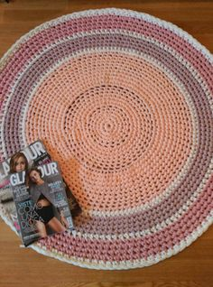 alfombra trapillo tshirt yarn rug cotton rug crochet rug