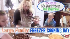 Our Large Family Freezer Cooking: 75 PBJs, 60 Burritos, 84 Muffins!