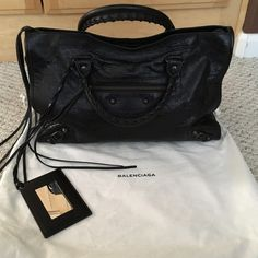 Balenciaga Classic City Bag NWT Balenciaga Classic City Bag in black - price is somewhat negotiable. Please make a reasonable offer if interested! Balenciaga Bags