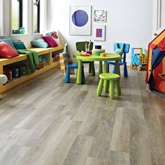 Great prices on Karndean Knight Tile Limewashed Oak luxury vinyl plank flooring with worn driftwood appearance in packs Luxury Vinyl Flooring, Vinyl Plank Flooring, Luxury Vinyl Plank, Wood Flooring, Karndean Knight Tile, Karndean Design Flooring, Playroom Flooring, Kitchen Flooring, Retro
