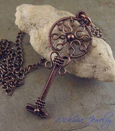 Jewelry TutorialArt Deco Key Pendant by wickwirejewelry on Etsy