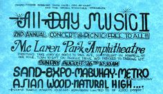 Sand, Expo, Mabuhay, Metro Sound Company, Asian Wood, and Natural High at the McLaren Park Amphitheater in San Francisco.