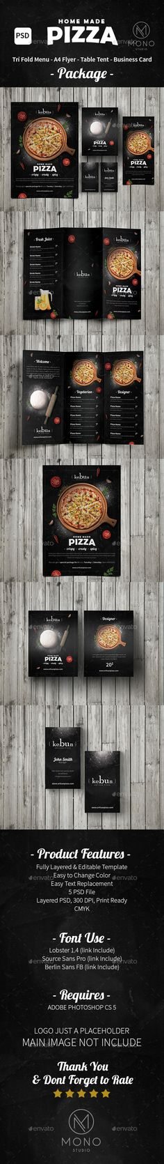 Pizza Menu Set/Rustic — Photoshop PSD #juice #restaurant • Download ➝ https://graphicriver.net/item/pizza-menu-setrustic/14221285?ref=pxcr