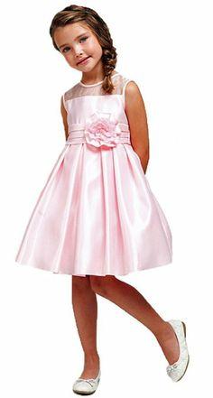 Amazon.com: KID Collection Girls New Simply Satin Knee Length Flower Girl Dress: Clothing