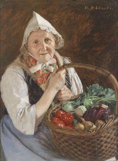 Richard Berlin) Farmer's Wife from the Märkisch-Oderland Berlin, Paintings I Love, Love Art, Vintage Ladies, Illustration Art, Artist, Farmer, Germany, Genealogy