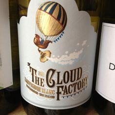 The Cloud Factory 2011 Sauvignon Blanc - Marlborough, New Zealand. Possibly the world's prettiest wine label.
