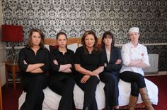 Presenter Norah Casey and the staff of The Clew Bay Hotel, Westport, Co. Mayo.