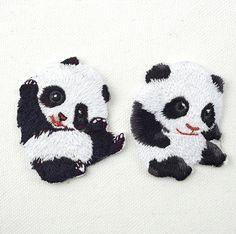Newcomdigi 2017 new computer embroidery cloth Beijiao cute panda animal badge patch DIY decorative fashion clothes
