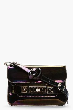 Proenza Schouler Black Iridescent Ps11 Mini Classic Bag for women | SSENSE