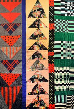Eli Leons improv quilt on daintytime.net (Inspired by African-American improv quilting.)