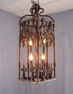 Rustic Chandelier From Wrought Iron
