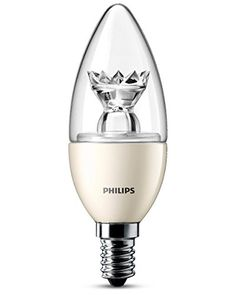 From 8.98 Philips E14 Small Edison Screw 6 Watt Led Dimmable Candle Warm White