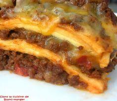 Dans la cuisine de Blanc-manger: Lasagne à la mexicaine