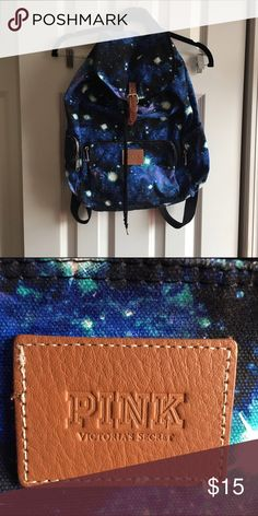Galaxy PINK backpack In great condition. Some spots inside but the outside is beautiful. PINK Victoria's Secret Bags Backpacks