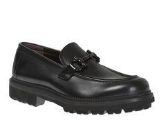 Salvatore Ferragamo men's loafers in black Calf leather - Italian Boutique €378