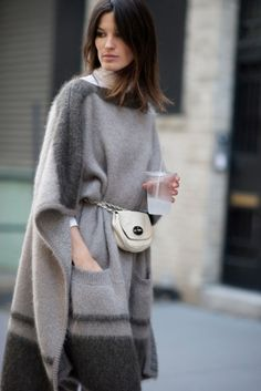 long woolen poncho - may be i can cut an old blanket and convert to this..this is so comfy for bone-chilling north indian winters