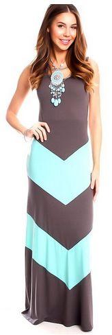 I love this dress so much! Chevron Tank Top Maxi Dress