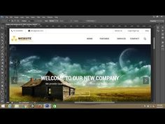 Photoshop tutorial:Simple webpage template design in photoshop - Part 1 Web Design Tips, Your Design, Google Material Design, Simple Website, Website Layout, Photoshop Tutorial, Interactive Design, Style Guides, Adobe