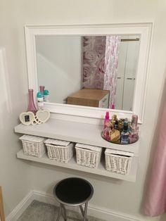 Girl Bedroom Designs, Room Ideas Bedroom, Diy Room Decor, Bedroom Decor, Home Decor, Vanity Room, Diy Vanity Table, Beauty Room, Dream Rooms