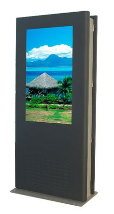 LCD enclosures are also referred to as digital signage totems.