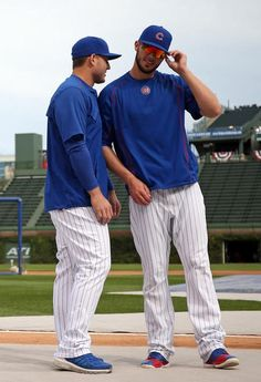 Kris Bryant and Anthony Rizzo: Photos of the Cubs' duo known as Bryzzo. Baseball Jersey Outfit, Baseball Mom Shirts, Baseball Boys, Baseball Players, Baseball Couples, Baseball Boyfriend, Cubs Players, Baseball Crafts, Baseball Birthday