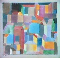 MITTELALTERLICHE STADT by Paul Klee 1915
