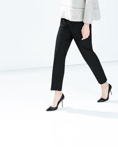 ZARA - WOMAN - TROUSERS WITH SLIT AT THE HEM