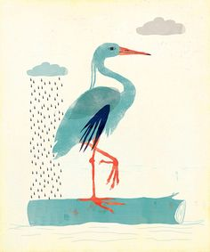 Blue Heron Limited Edition Large Giclee Print by ShopAmySullivan,