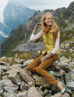 I don't think she hiked there in those shoes . . .