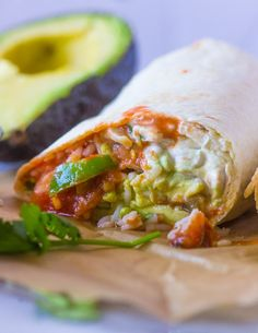 Quick, healthy, and delicious. Veggie burritos filled with Fajita veggies, rice, beans, avocado, sour-cream and salsa. Mexican food is currently my favorite cuisine and has been for about 2 years n…