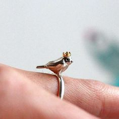 The Bird King Ring is a Delicate Piece with a Distinct Focal Point trendhunter.com