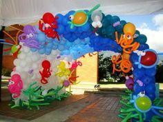 decoracion con globos para fiestas infantiles - Buscar con Google