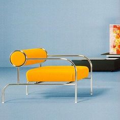Art Deco Chrome with Bright Yellow Leather Chair. Art Deco Furniture, Cool Furniture, Modern Furniture, Furniture Design, Furniture Removal, Office Furniture, Console Design, Muebles Art Deco, Diy Chair