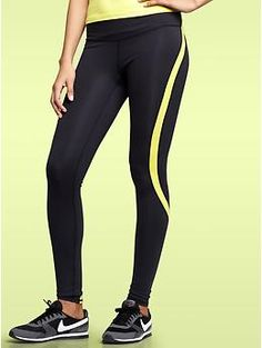 GapFit gFast colorblock leggings. One of our editors has these and loves 'em! (And she's more of a yoga pants person.)