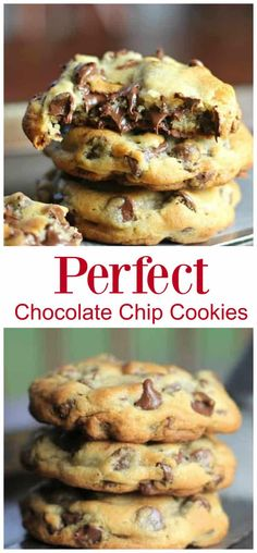 Cookie Recipes 83949980542267915 - These 'perfect' chocolate chip cookies are completely buttery, chewy, thick and chocked full of rich, semi-sweet chocolate chips. chip Source by BaknChocolaTess Perfect Chocolate Chip Cookies, Chocolate Cookie Recipes, Semi Sweet Chocolate Chips, Easy Cookie Recipes, Easy Desserts, Baking Recipes, Delicious Desserts, Dessert Recipes, Chocolate Chocolate