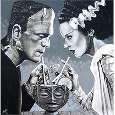 frankenstein rockabilly | Home > Tattoo Art > All Tattoo Art > Amorous Libation by Mike Bell ...