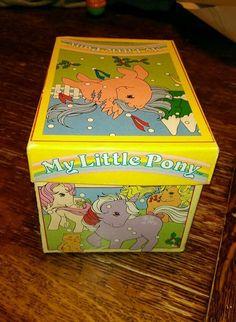 My Little Pony G1 Small Vintage Cardboard Box 1987   eBay