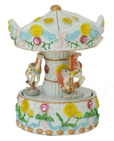 Mouse over image to zoom    Have one to sell?Sell it yourself     MUSICAL CAROUSEL FIGURINE COLLECTION DECORATED YOU ARE MY SUNSHINE