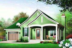 Cottage Style House Plan - 2 Beds 2.5 Baths 1452 Sq/Ft Plan #23-562 Front Elevation - Houseplans.com