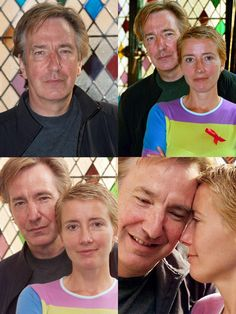 "May 29, 2001 -- Alan Rickman and Emma Thompson supporting the anti-poverty agency called ""Action Aid"" at the Ivy in London. 2001 ""ActionAid"" is an international non-governmental organization whose primary aim is to work against poverty and injustice worldwide."