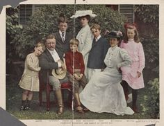 Theodore Roosevelt and his family at Oyster Bay. Portrait from the Miriam and Ira D. Wallach Division of Art, Prints and Photographs at the New York Public Library