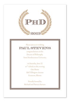 Sophisticated PhD - Graduation Announcements by Invitation Consultants. (Item # IC-RLP-237 )