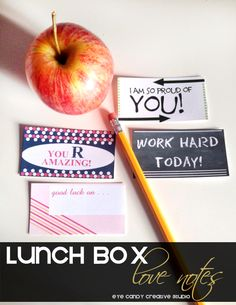 Lunch Box Love Notes for the kids @eyecandycreate #lovenotes #lunchboxnotes #backtoschool
