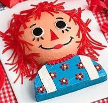 Raggedy Ann Cake for Mia