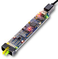 Caractéristiques:  Bande passante 20 MHz. 40 Millions échantillons /sec en capture de signaux logiques. 2 canaux oscilloscope analogique. 2 canaux comparateur analogique. 6 canaux analyseur de protocole logique. Echantillnnage analogique 8 et 12 bits de résolution. Décodage protocole série, SPI, I2C, CAN et autres. Compatible  Windows, Linux, Mac OS X et Raspberry Pi. Générateur de signaux analogiques et d'horloge . Programmables par l'utilisateur, C / C ++, Python, VM API. Petit, léger…