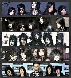Black Veil Brides through the years :) <3