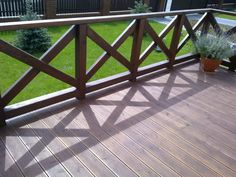 RACHANIE - taras modrzew syberyjski kolor palisander + balustrada